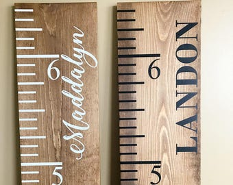 Vintage Growth Chart | Wood Ruler Large | Growth Chart | Height Chart | Giant Ruler | Baby Shower Gift | Custom Growth Chart | Height Ruler