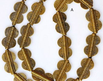 Baule Bronze Beads - African Trade Beads from Ivory Coast - 2 Sizes -  20-25 Beads