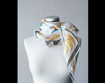 No. 2014 hand painted silk scarf