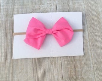 Bubblegum pink sailor bow