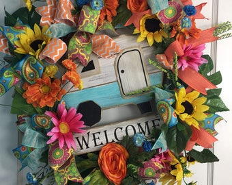 Campers Delight Spring/Summer Wreath
