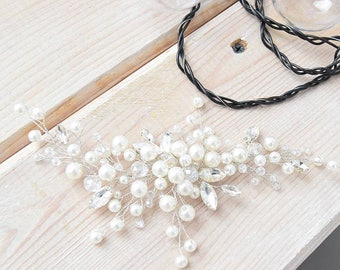 Bridal hair comb bridal headpiece wedding hairpiece wedding pearl hair comb