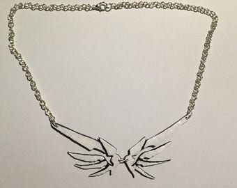 Overwatch - Mercy wing necklace
