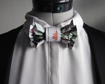 bow tie in printed origami - mixed