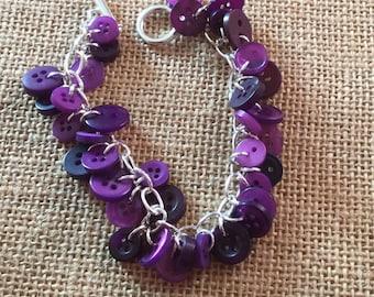 Purple button bracelet