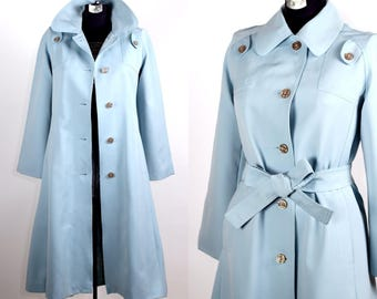 Vintage 1960s 70s Songbird Trench Coat by Jerold / small