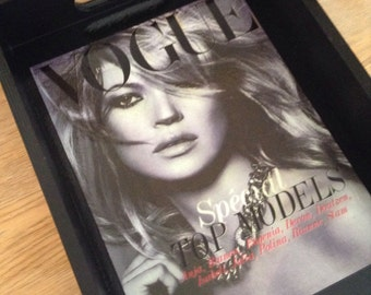 Kate Moss Black & White Vogue Cover Tray - Black