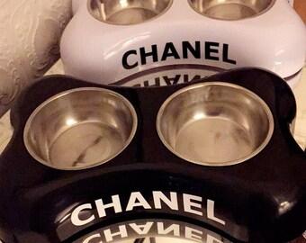 Chanel pet bowls