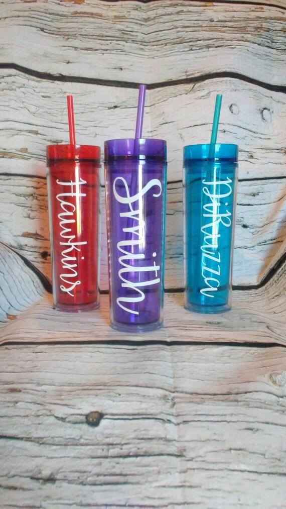 Personalized Skinny Tumbler Cups Skinny Tumblers 16 Oz Tumbler