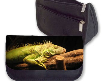 SLEEPING LIZARD Pencil case / Clutch, Make up bag. Perfect gift for Christmas, Birthday or even for Back To School.
