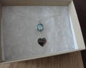 Sparkle Heart Drop necklace