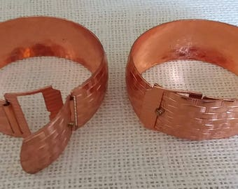 Copper Cuff Bracelet Set