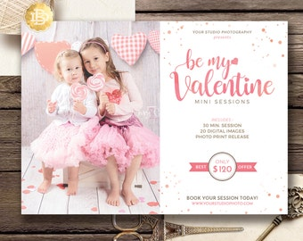 Valentine Mini Session Template for Photographer, Photography Mini Session Marketing Card, Valday Mini Session - INSTANT DOWNLOAD - MS020