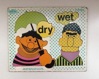 Vintage Sesame Street Playskool Puzzle featuring Bert and Ernie
