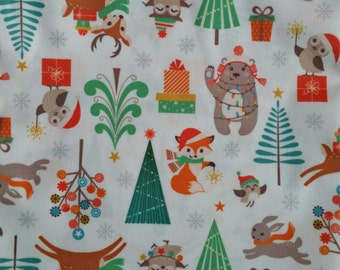 Winter wonderland cloth diaper - AIO cloth diaper - one size cloth diaper - Newborn cloth diaper - hemp bamboo - wahm diaper - Christmas