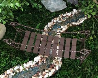 Miniature Metal Swinging Bridge