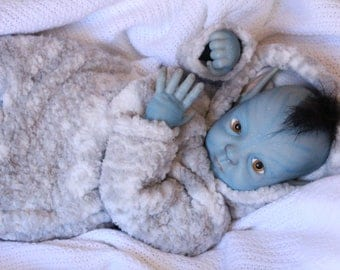 "Beautiful Limited Edtion 20"" Avatar Na'vi Realistic Reborn OOAK Baby Doll (FREE SHIPPING)"