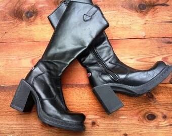 Platform Hex boots power girls vintage plateau steampunk gothic Italy