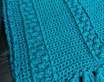 Teal Afghan, Crocheted