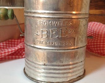 "Vintage Bromwell ""Bee"" flour sifter"