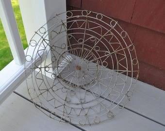 Vintage wire basket for food or plants