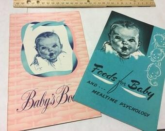 2 Vintage Gerber Baby Books