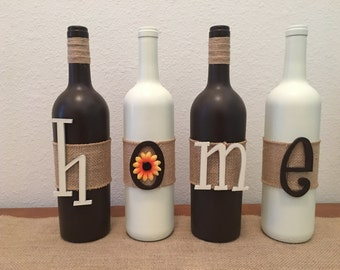 Home wine bottle custom decor