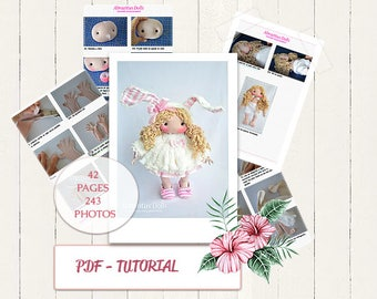"PDF cloth doll 15 "", dolls, tutorial, pattern, dolls, dolls, dolls, pdf, 40cm doll pattern, is left standing alone."