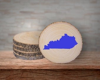 Rustic Kentucky Coasters - Blue