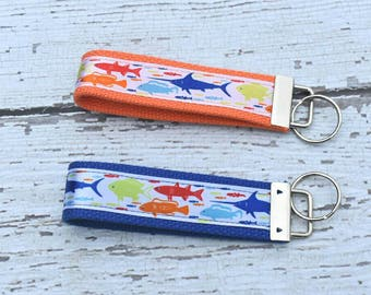 Gift for dad - fishing key fob - fishing lovers gift - key chain