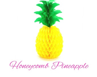 Luau Party Decorations. Party Decorations. Pineapple. Pineapple Party. Pineapple Theme. Party like a Pineapple. Honeycomb Pineapple.
