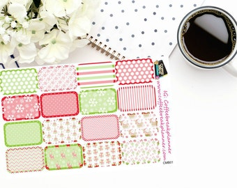 Planner Stickers | Christmas Half Boxes| Erin Condren| Happy Planner| Inkwell Press|CMB01