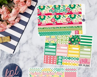March Monthly Planner Sticker Kit. Perfect for Erin Condren Life Planners! MARCH