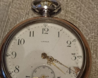 Omega Open Face Antique Old Swiss Made  Pocket Watch c1900