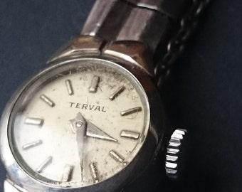 Ladies vintage  Terval    mechanical Movement watch
