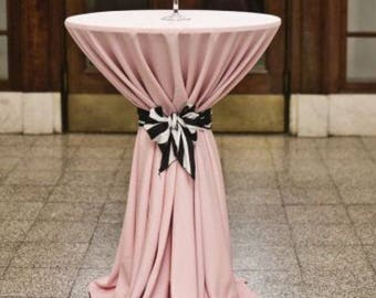 Easter Tablecloth, Blush lamour satin tablecloth, table overlay, wedding tablecloth, bridal, baby shower, all colors and sizes available