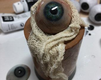 Steamys Famous Amazeballs...steampunk prosthetic eye art