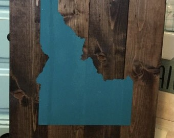 IDAHOME wood sign