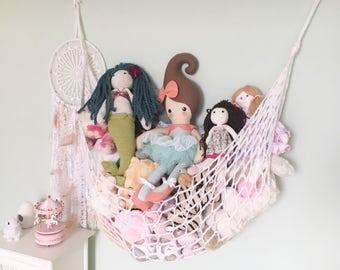 Toy Hammock - Crochet Toy Storage