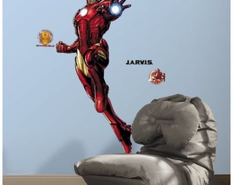 Marvel iron man birthday/bedroom stick and peel wall decal