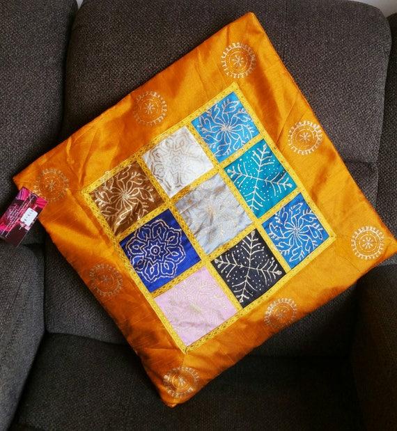 Yellow Pillow Cover, Boho Pillow, Handmade Pillow, Linen Couch Cushions, garden pillow, decorative pillow, Pillow Cover, christmas gift