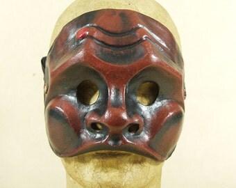 Commedia dell'Arte mask in papier maché: Brighella