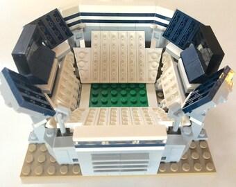 Mini Penn State Beaver Stadium Custom Brick Set with Printed Instructions