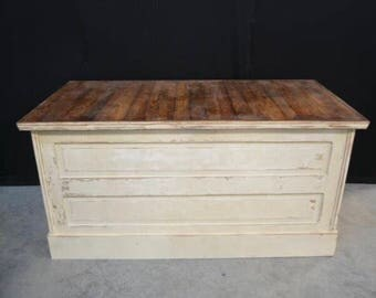 Old General Store Retail Checkout Counter Kitchen Island Vintage Farmhouse Rustic Distressed