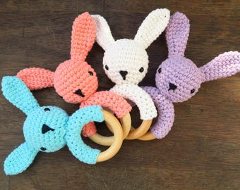 Bunny - rattle & teether