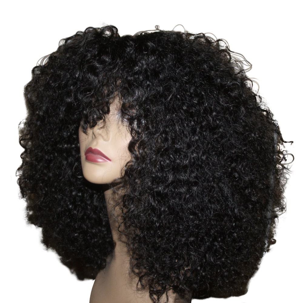 Essence Wigs 100% Indian Remy Human Hair Black Wig Natural