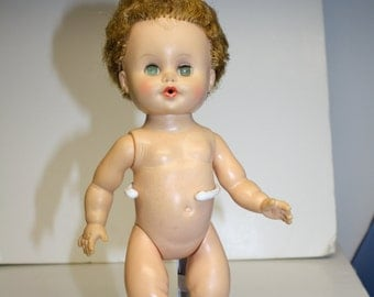 Vintage 10 inch doll ~ EEGEE doll ~ rooted hair doll ~ baby Doll ~ Vintage Doll