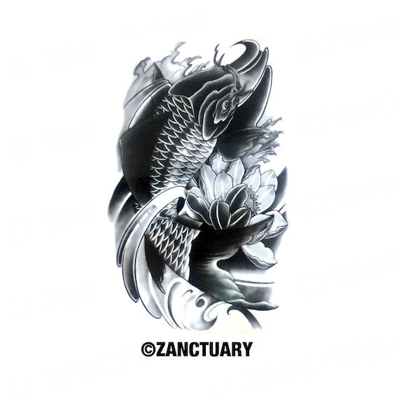 Koi fish temporary tattoo koi fish fake by zanctuary on etsy for Artificial koi fish