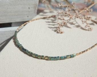 Boho Beaded Necklace, Boho Beaded Collar Necklace, Boho Statement Necklace, Glass Beaded Necklace, Boho Glass Necklace, Statement Jewelry