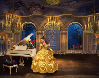 Beauty and The Beast Ballroom Scene Digital Backdrops